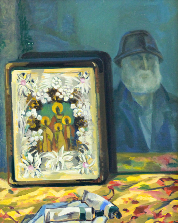 Фартуков И.И. Автопортрет с иконой