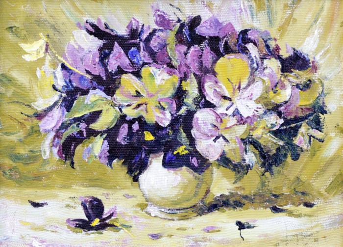 Стремоухова С. Букет в белой вазе