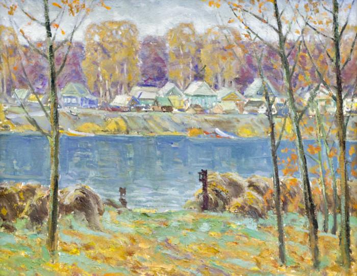 Харин Г.Е. Деревня у реки