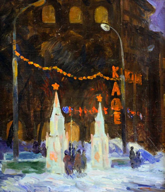 Мустаев Р.Х. Новый Год на площади Орджоникидзе
