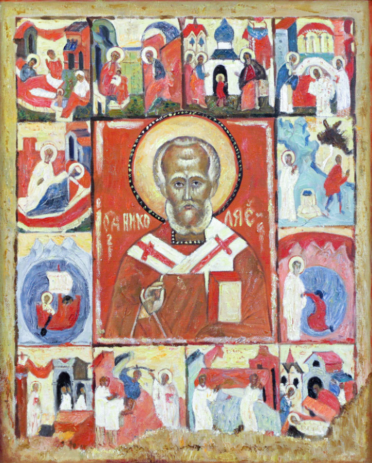 Магасумов Д.М. Икона Св. Никола с житием II