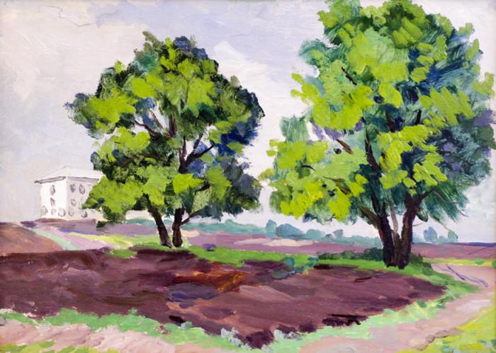Огородов Г.В. Пейзаж с деревьями