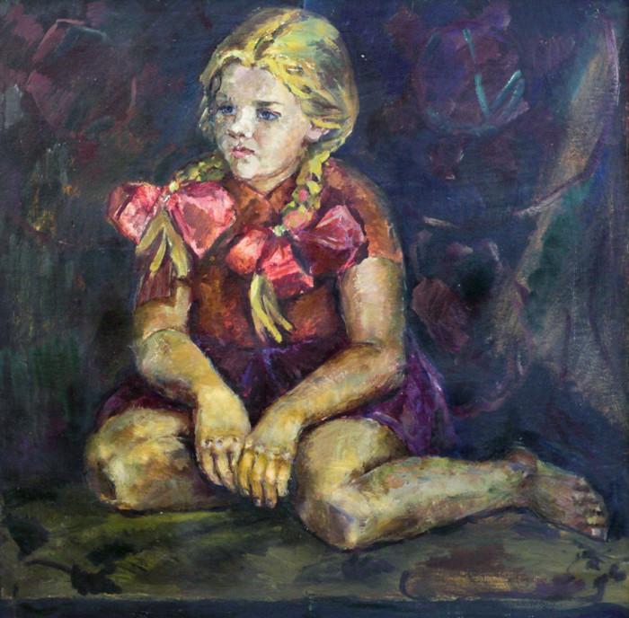 Ростемберская Г.Н. Девочка с красными бантами