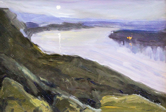 Ростемберский Ю.В. На реке Белой. Ночь