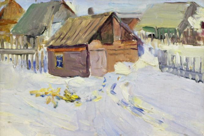 Ростемберский Ю.В. Зимний деревенский пейзаж