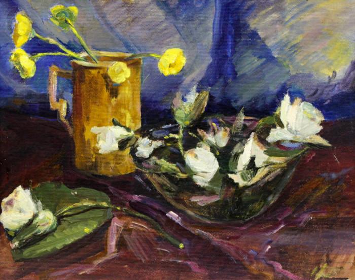 Ростемберская Г.Н. Натюрморт с лилиями