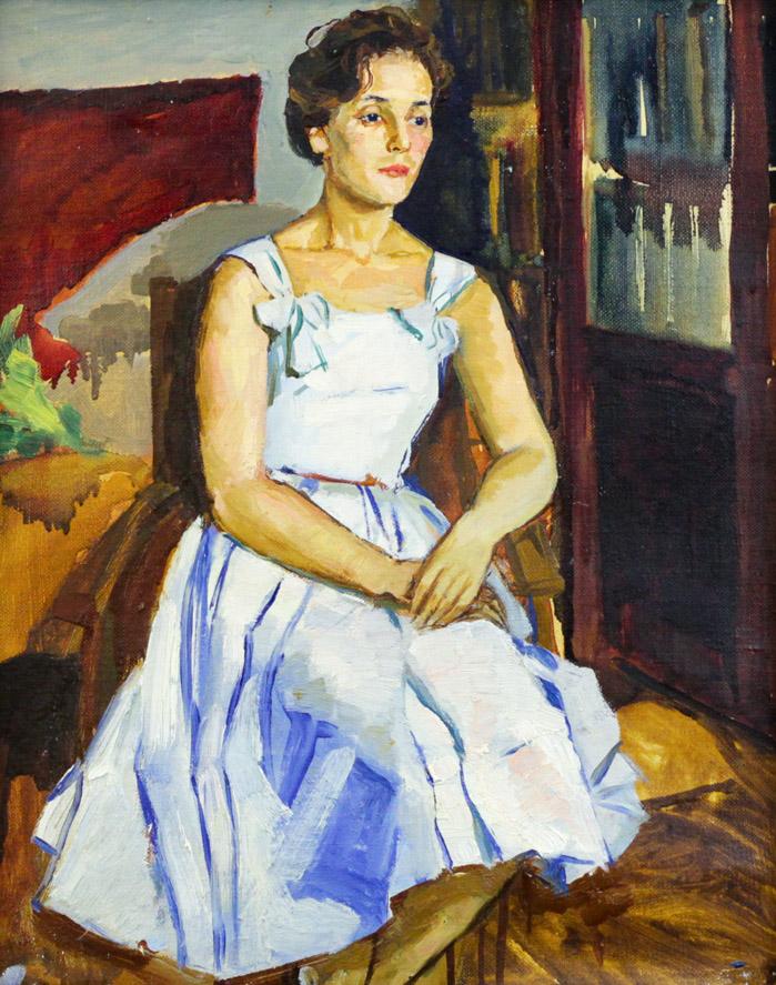 Ростемберская Г.Н. Модель в белом платье