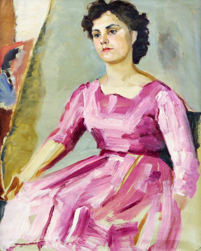 Ростемберская Г.Н. Девушка в красном платье