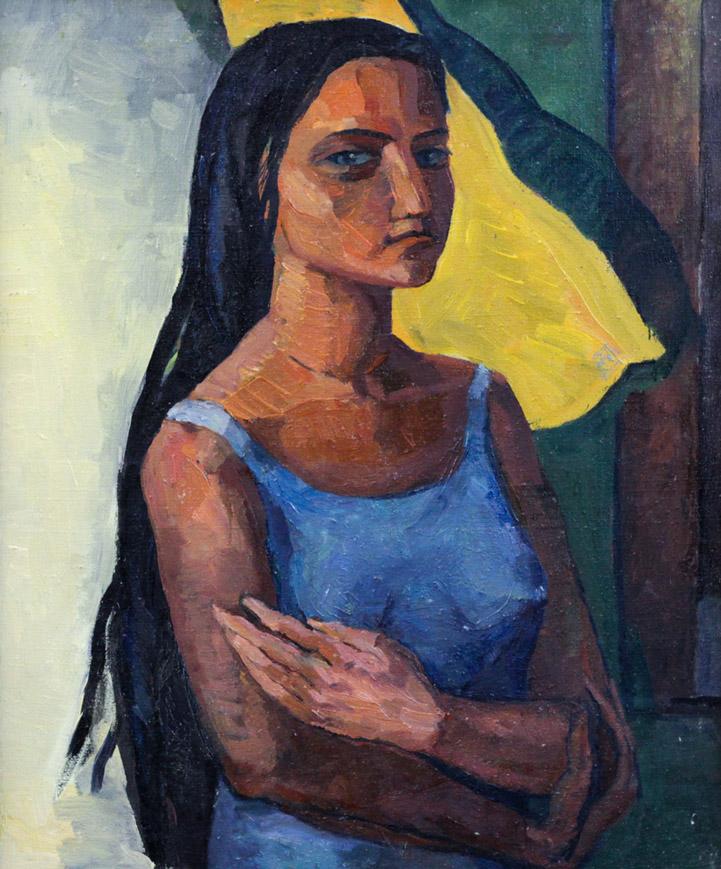 Стремоухова С. Девушка в голубом
