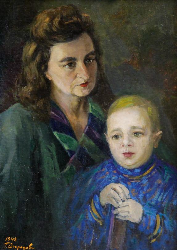 Огородов Г.В. Портрет жены и сына
