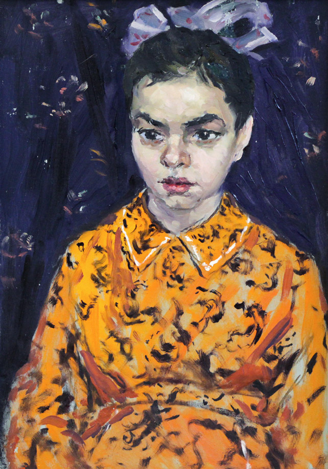 Огородов Г.В. Девушка в оранжевом