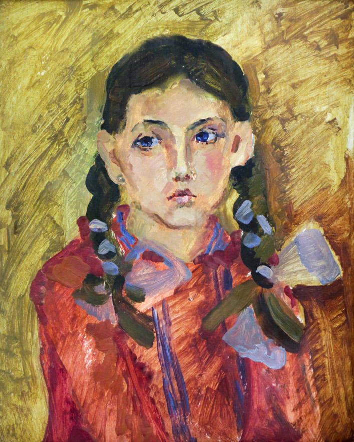 Ростемберский Ю.В. Девушка с косичками