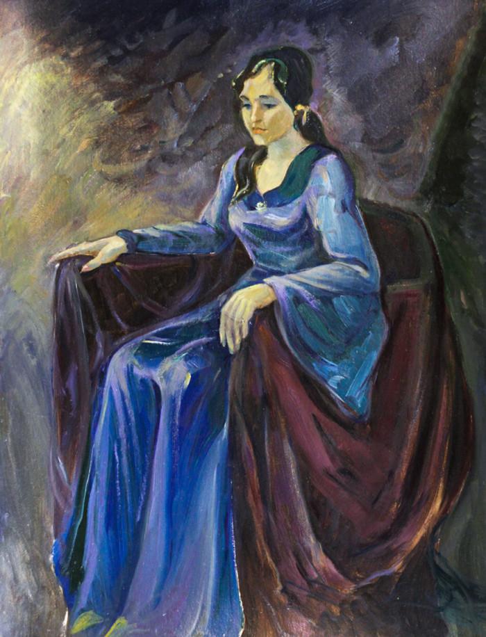 Ростемберский Ю.В. Девушка в синем