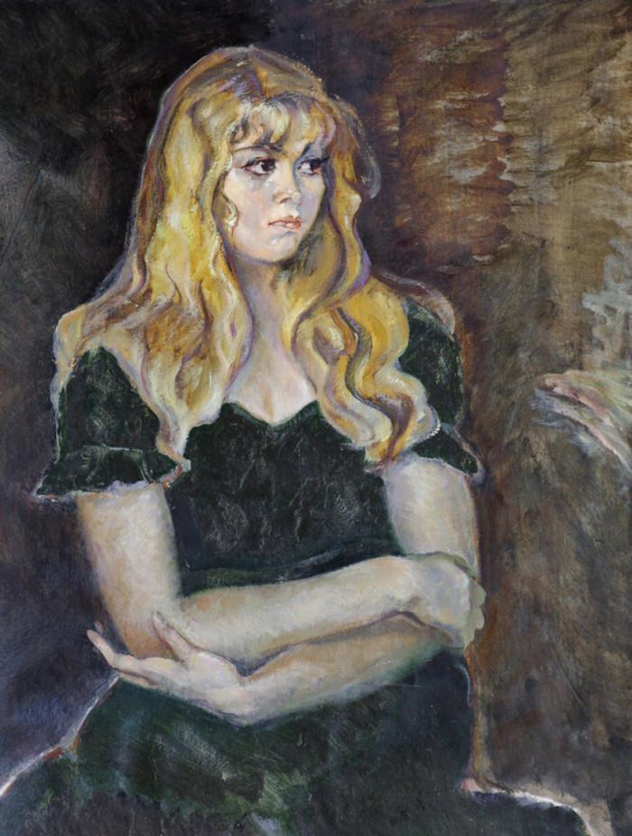 Ростемберский Ю.В. Девушка в зеленом