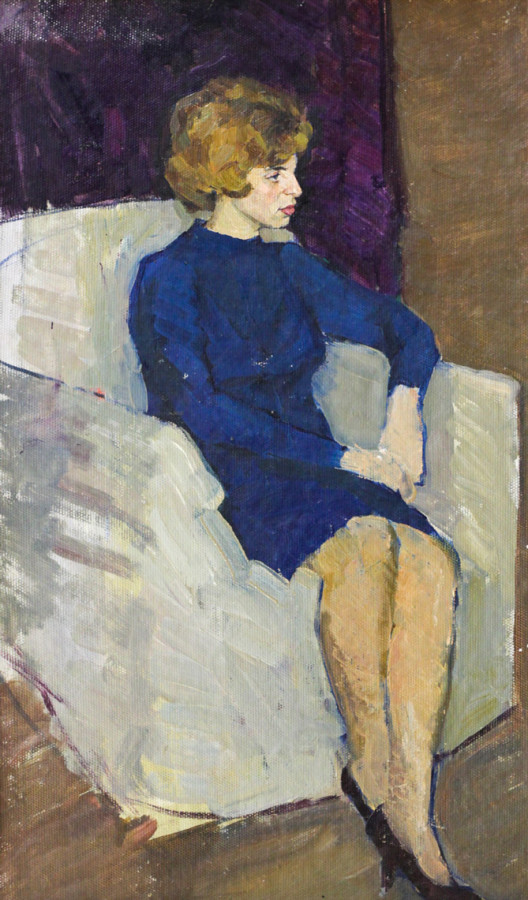 Огородов Г.В. Девушка в белом кресле