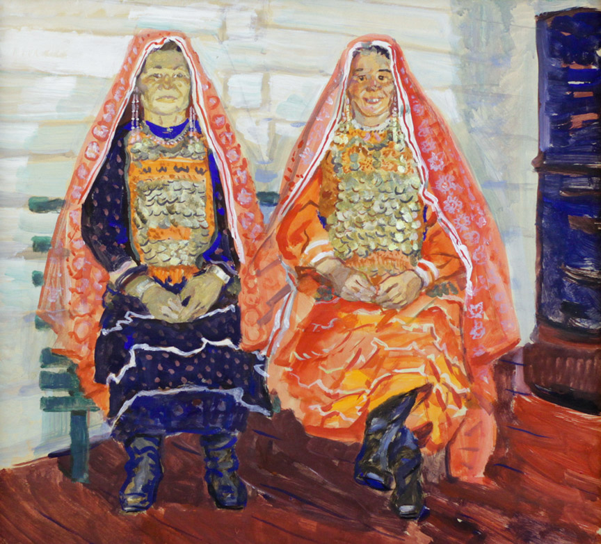 Кудрявцев А.М. Две башкирки в нац. костюмах
