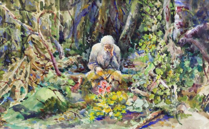 Ерёменко П.Я. Старик в лесу