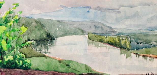 Шестак А. Вид на реку Белая