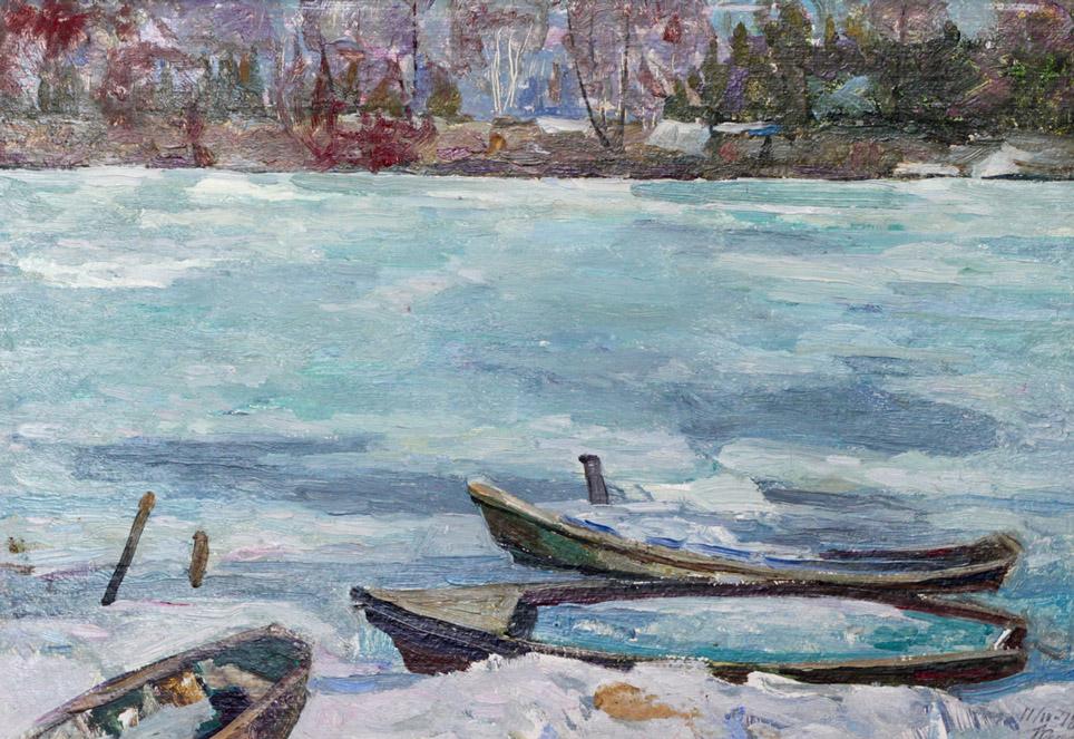 Харин Г.Е. Вмёрзшие лодки