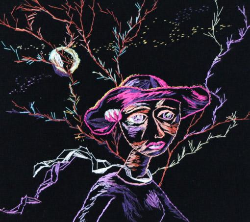 Стремоухова С. Женщина в сиреневой шляпе