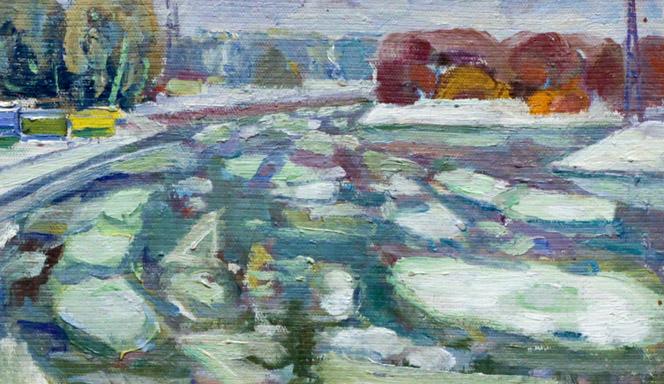 Харин Г.Е. Ледоход на реке Белой