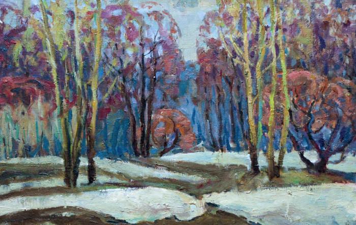 Харин Г.Е. Пейзаж. Первый снег