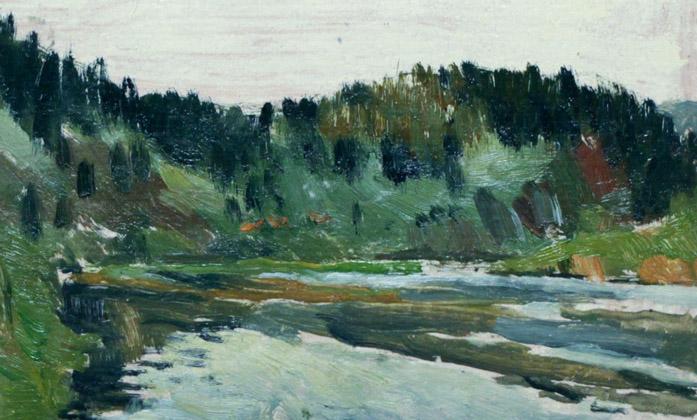 Автор Неизвестен Уральская река