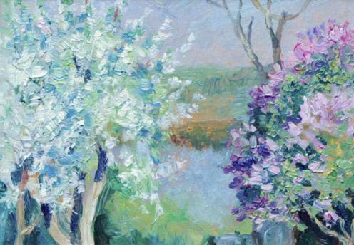 Мустаев Р.Х. Цветущая сирень и яблоня