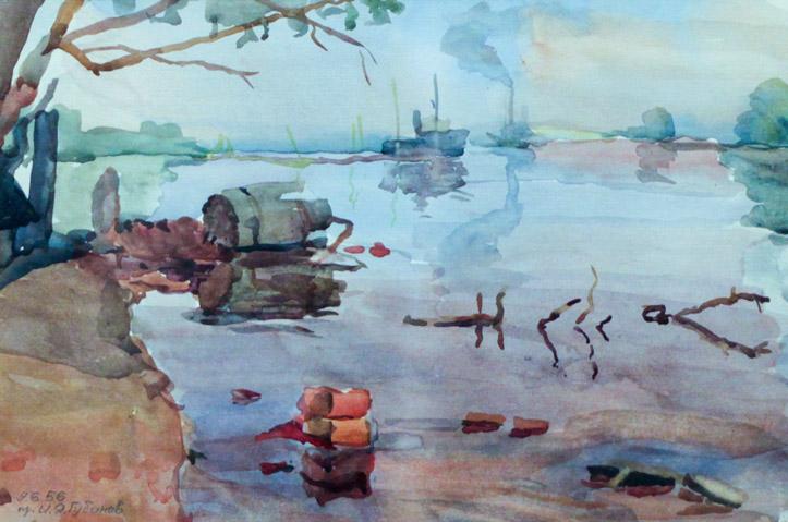 Губанов И.Я. На реке Белой