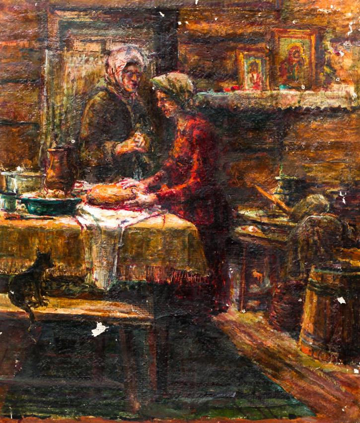 Ерёменко П.Я. В избе