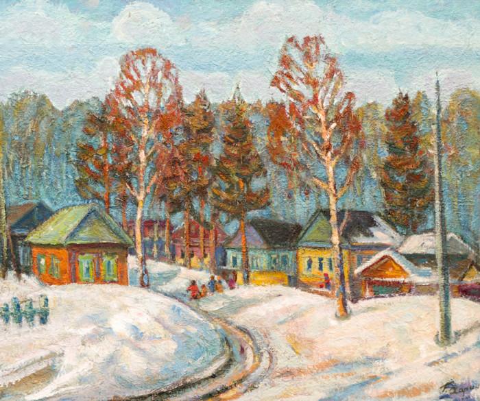 Харин Г.Е. Зима. Деревенская улица