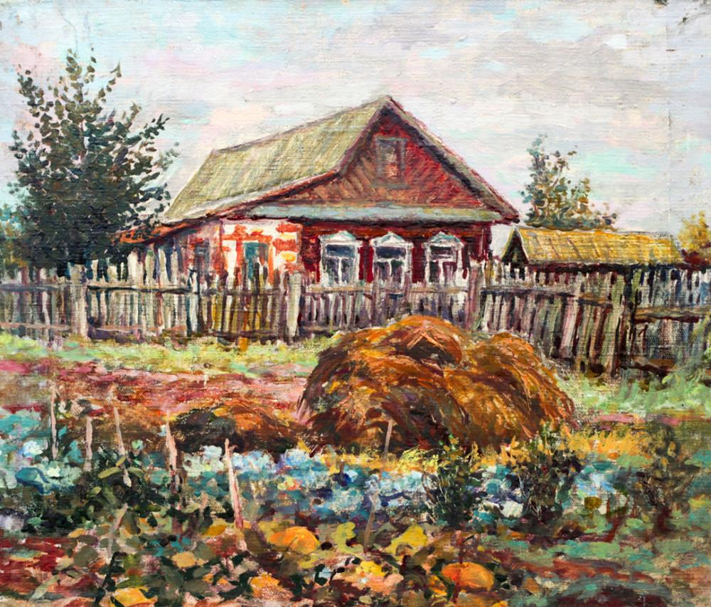 Ерёменко П.Я. В деревне