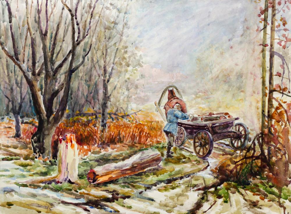 Ерёменко П.Я. Крестьянин с лошадью