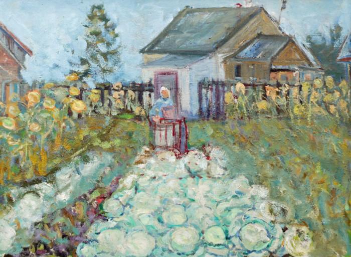 Харин Г.Е. В огороде