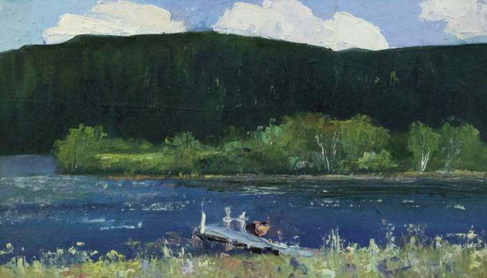 Рыбаков А.А. На реке