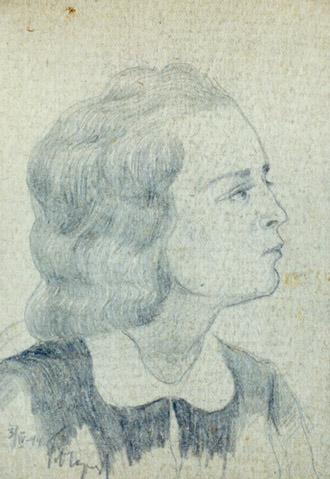 Огородов Г.В. Портрет девушки