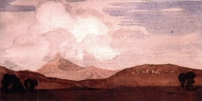 Картина Максимилиана Волошина Киммерия. 1924 год, бумага, акварель