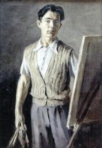Сергей Анатольевич Фадеев, Автопортрет, 1957 г., холст, масло